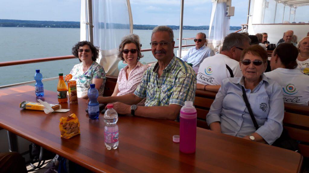 Jahresausflug Ammersee 2021 auf dem See
